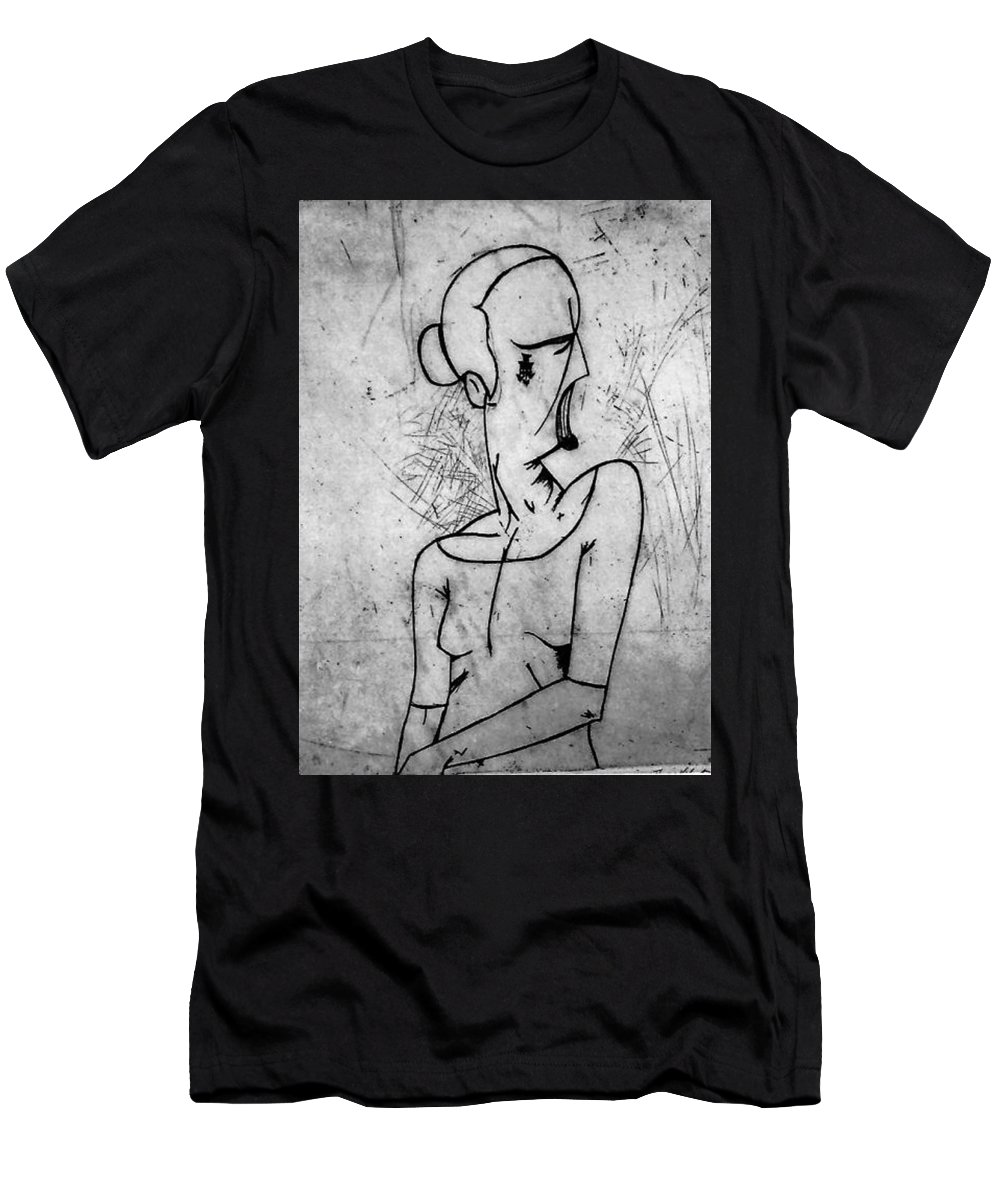 Misc Men's T-Shirt (Athletic Fit) featuring the relief Screamer by Thomas Valentine