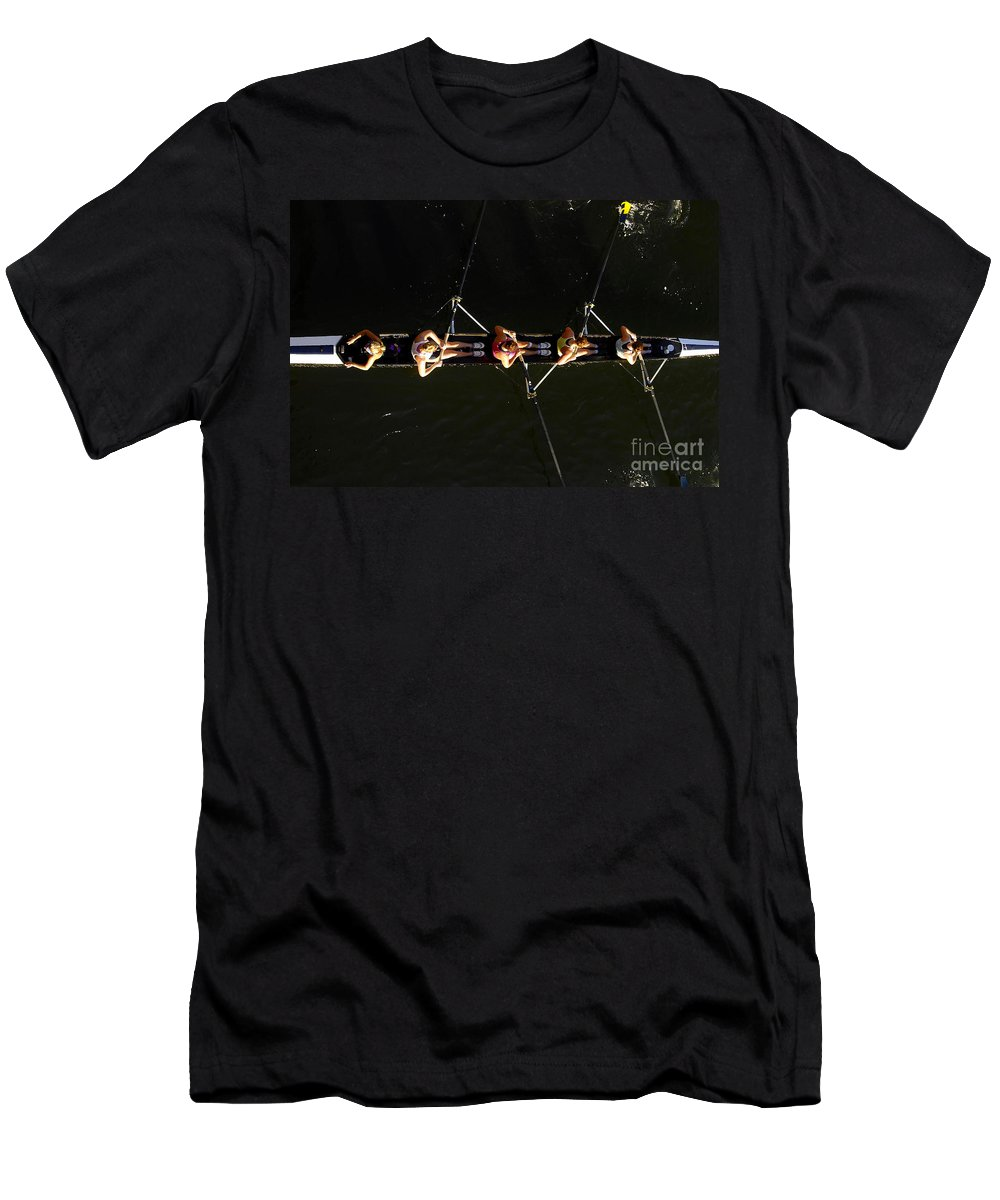 Women Men's T-Shirt (Athletic Fit) featuring the photograph Sculling by David Lee Thompson
