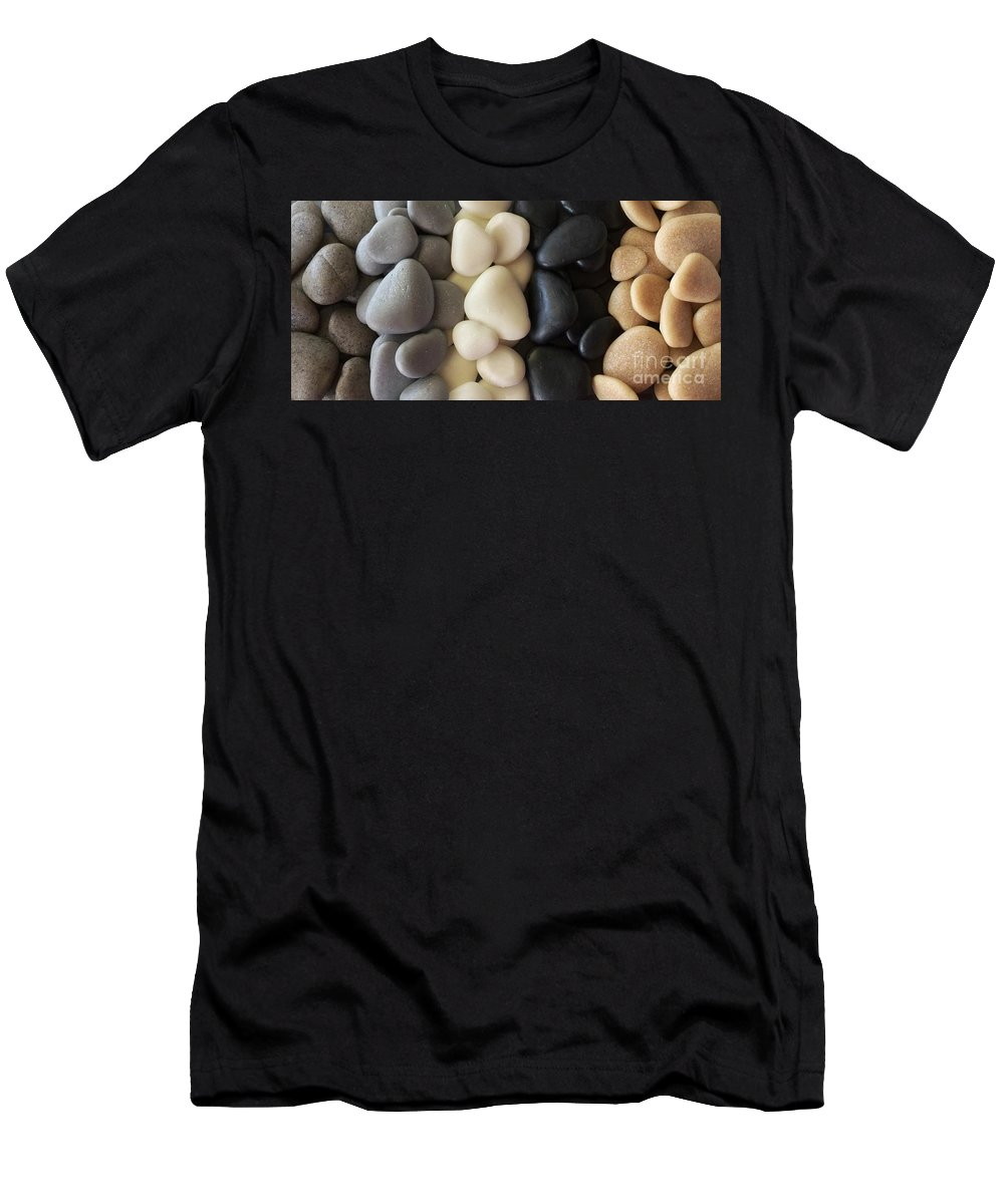 Nature Men's T-Shirt (Athletic Fit) featuring the photograph Sculpted Beach Rocks by Patricia E Sundik
