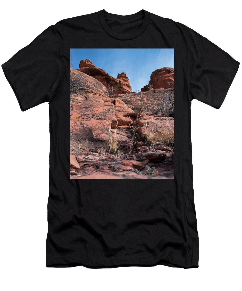 Amazing Men's T-Shirt (Athletic Fit) featuring the photograph Sculpted Sandstone by Brian Stricker