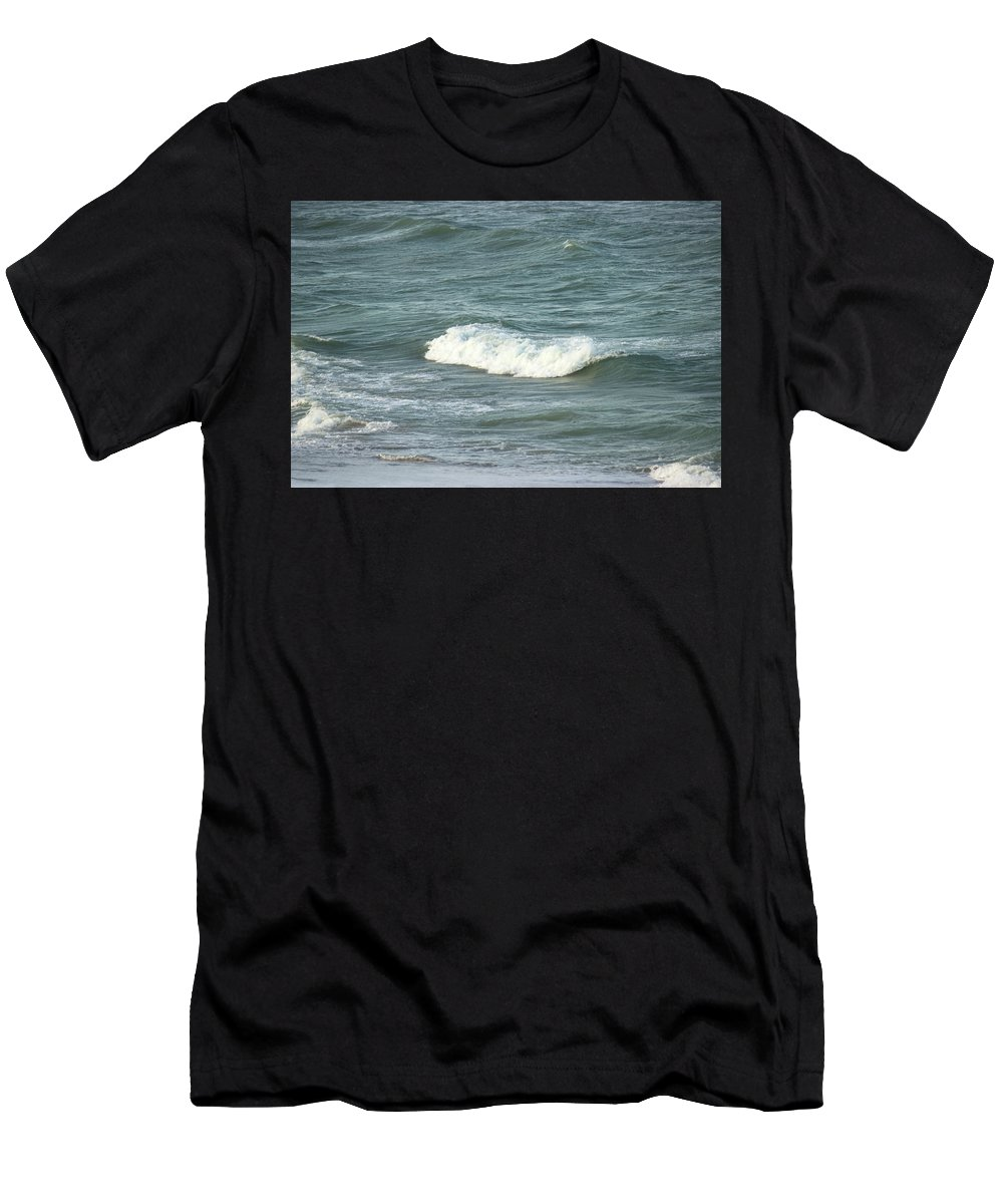 Sea Crest Men's T-Shirt (Athletic Fit) featuring the photograph Sea Crest by Mayra Pau