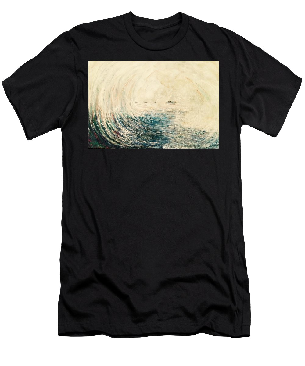 Ocean Men's T-Shirt (Athletic Fit) featuring the painting Sea Goddess by Denise Goldstein