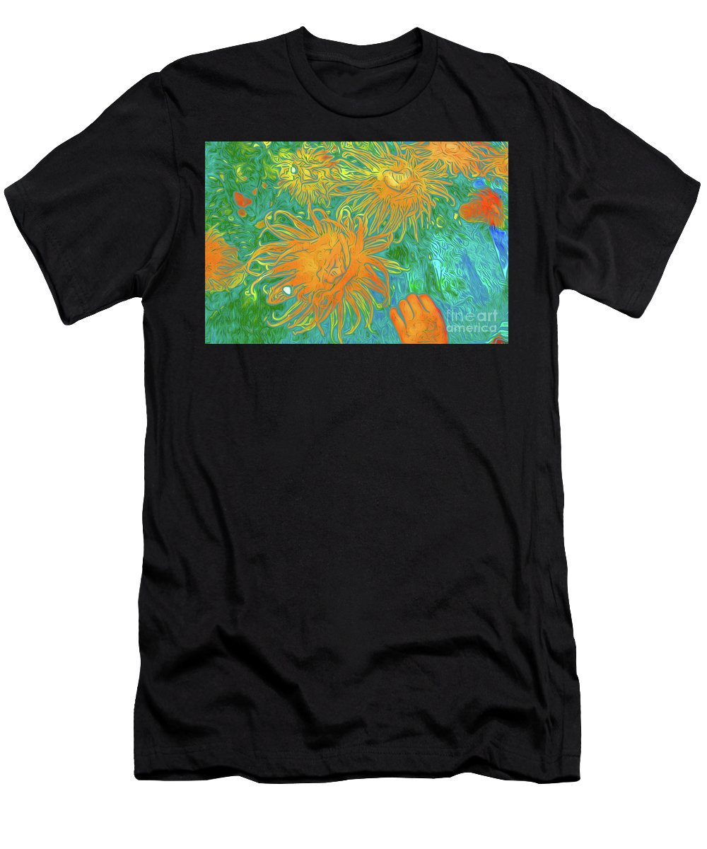Sea Urchin 10 Men's T-Shirt (Athletic Fit) featuring the digital art Sea Urchin 10 by Chris Taggart
