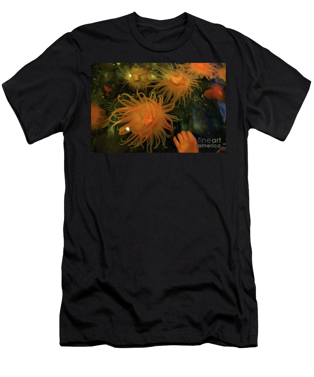 Sea Urchin 12 Men's T-Shirt (Athletic Fit) featuring the digital art Sea Urchin 12 by Chris Taggart