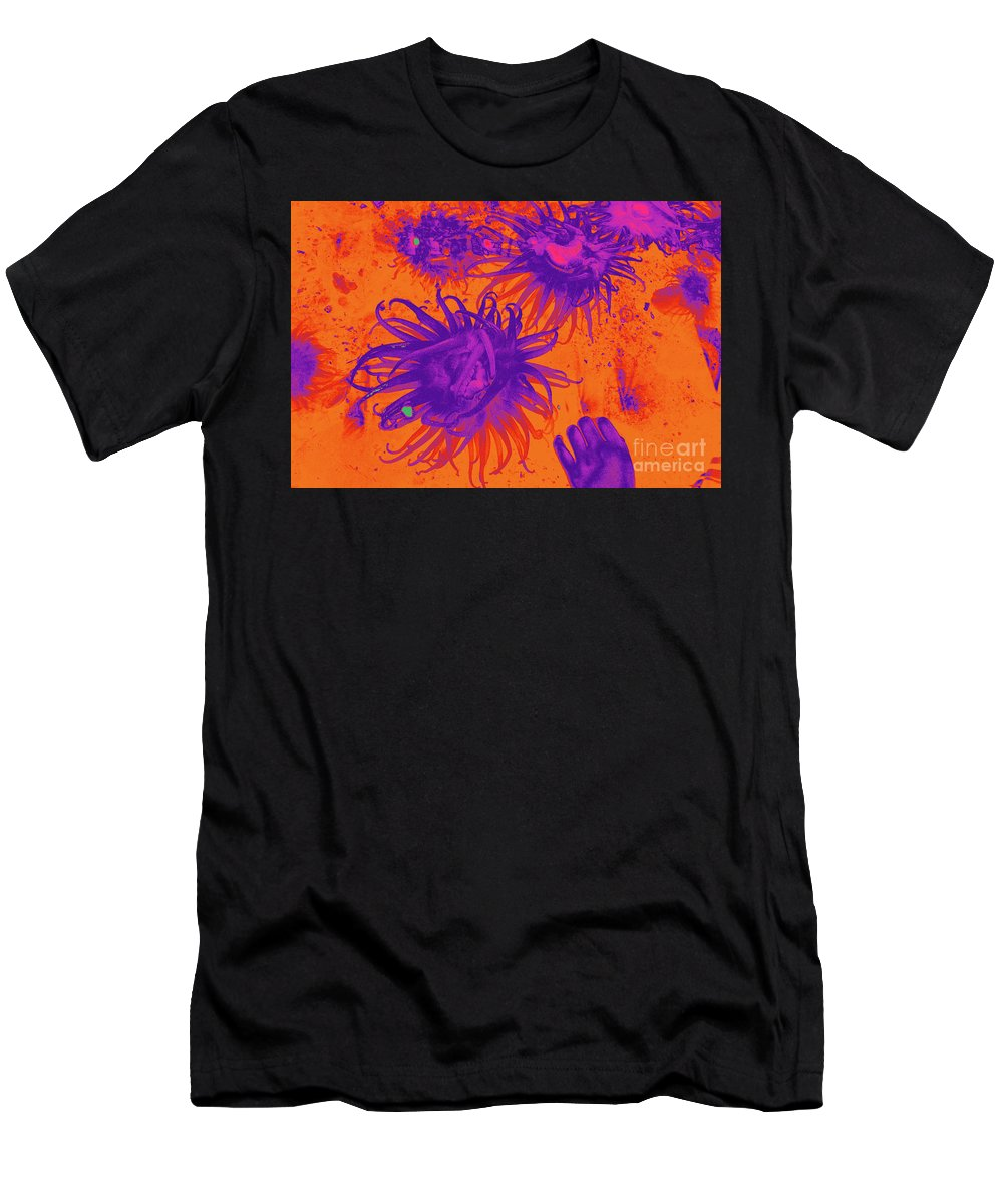 Sea Urchin 14 Men's T-Shirt (Athletic Fit) featuring the digital art Sea Urchin 14 by Chris Taggart