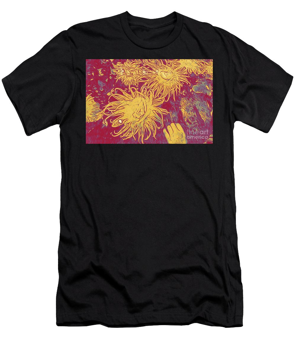 Sea Urchin 6 Men's T-Shirt (Athletic Fit) featuring the digital art Sea Urchin 6 by Chris Taggart