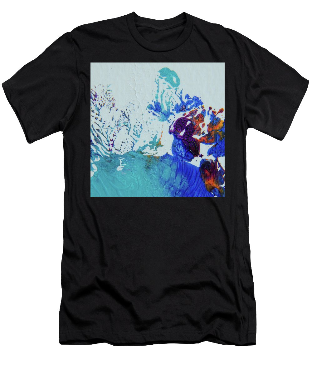 Art Men's T-Shirt (Athletic Fit) featuring the painting Seafloor by Deb Breton