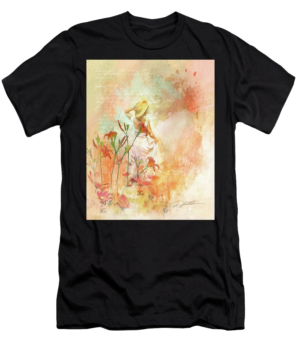 Art Men's T-Shirt (Athletic Fit) featuring the painting Search For Tomorrow by Danny Hahlbohm