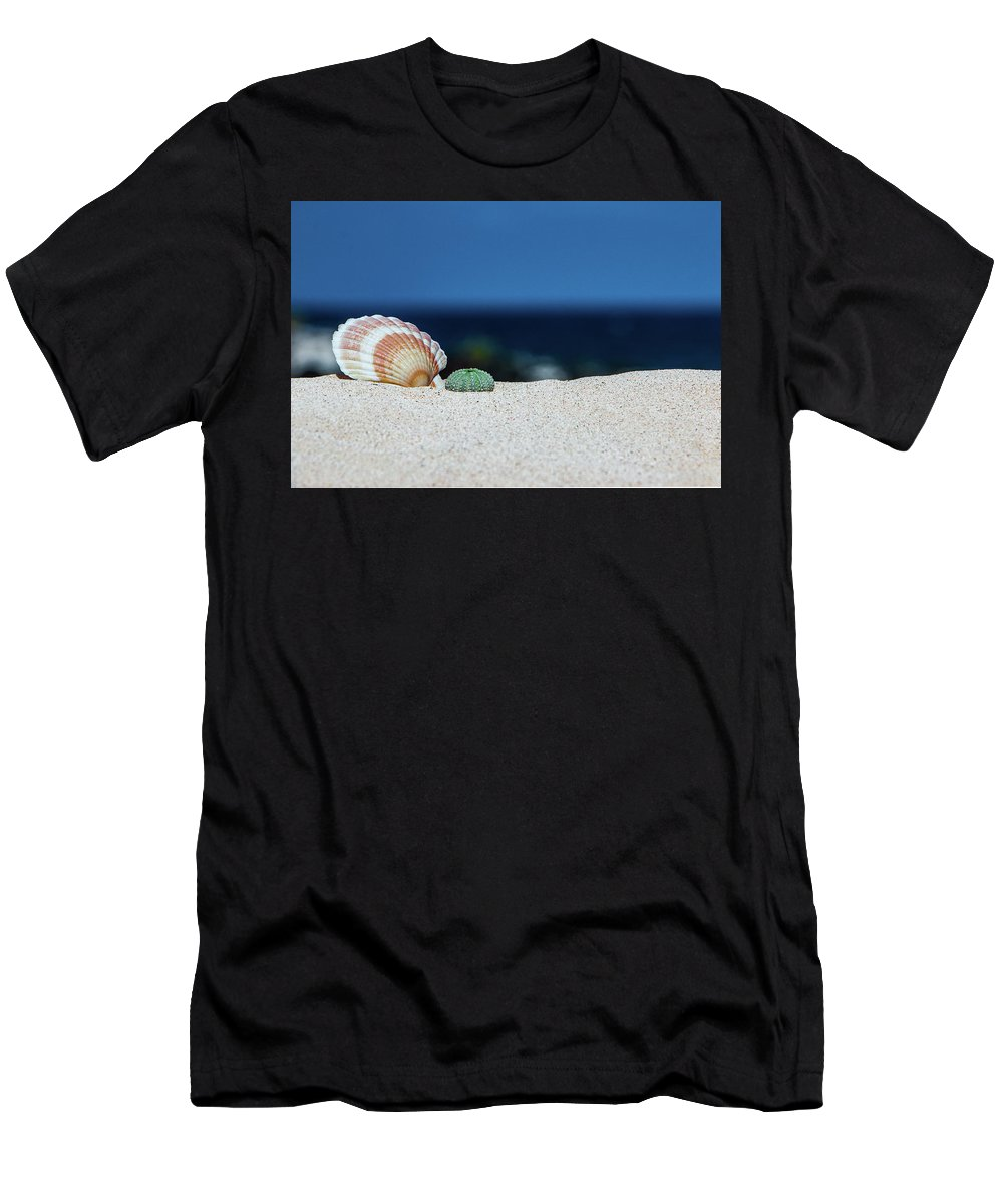 Seashell Men's T-Shirt (Athletic Fit) featuring the photograph Seashell by Alexander Petrov