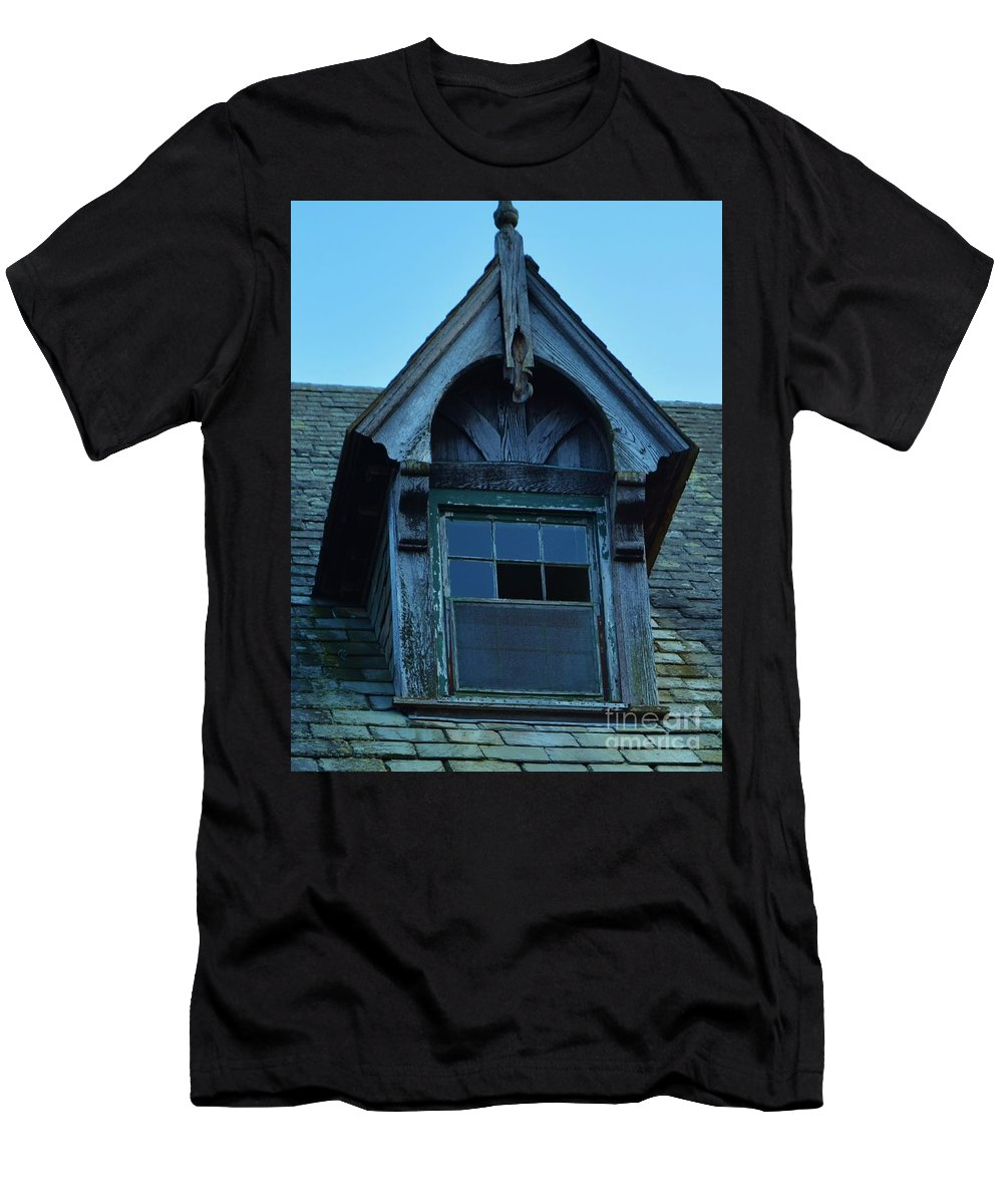 Abandoned Hospital Men's T-Shirt (Athletic Fit) featuring the photograph Seaside 3 by Virginia Levasseur
