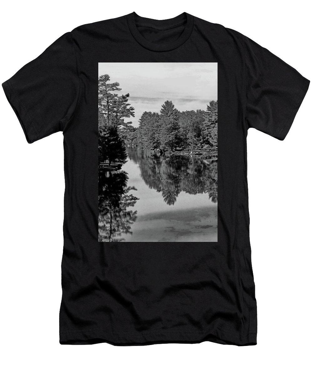 River Men's T-Shirt (Athletic Fit) featuring the photograph Secret Hideaway by JGracey Stinson