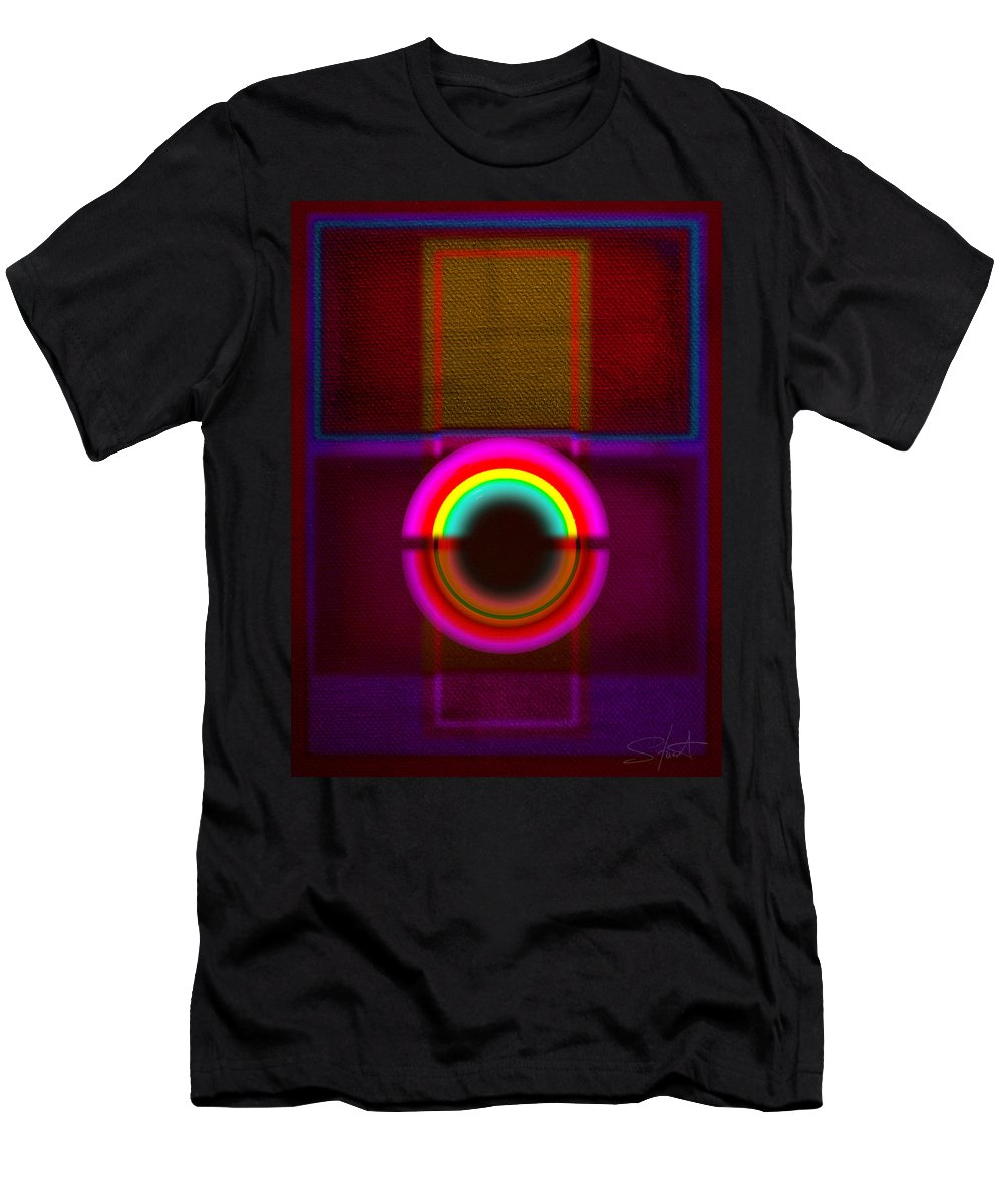 Portal Men's T-Shirt (Athletic Fit) featuring the painting Section by Charles Stuart