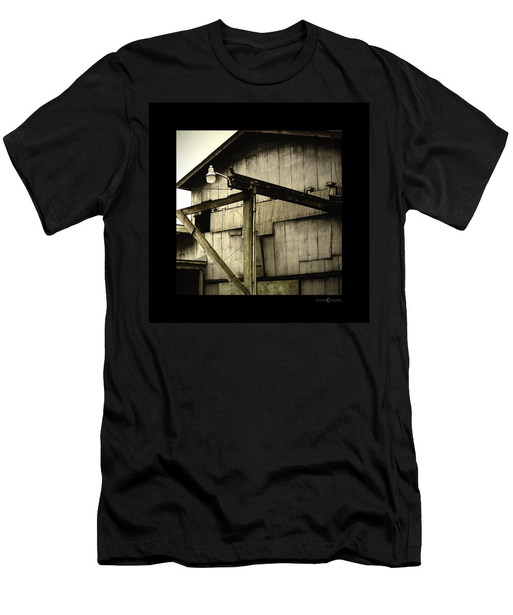 Corrugated Men's T-Shirt (Athletic Fit) featuring the photograph Security Light by Tim Nyberg