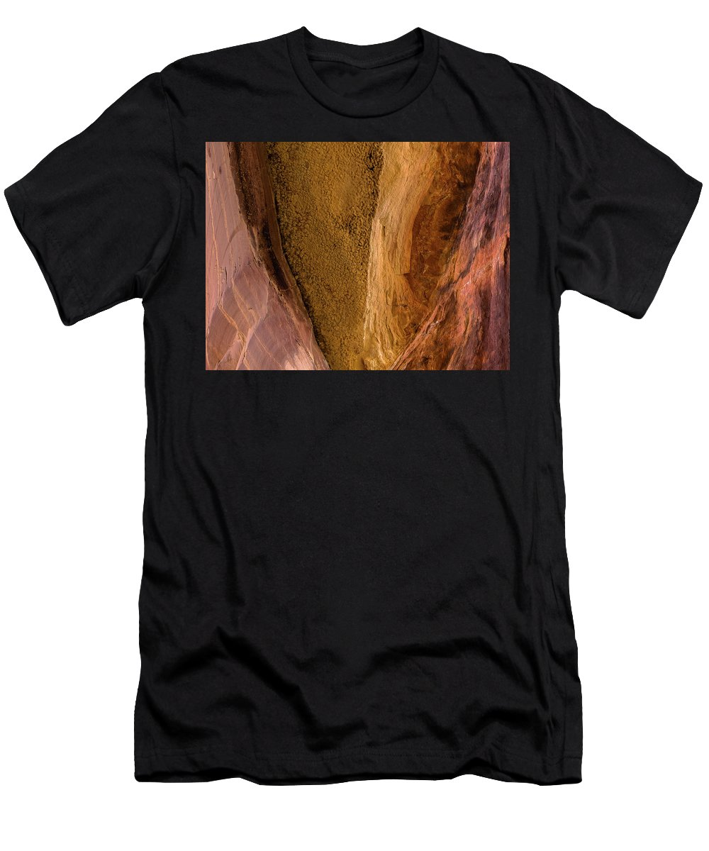 Desert Men's T-Shirt (Athletic Fit) featuring the photograph Sedona Canyon Abstract by Jessica Giannone