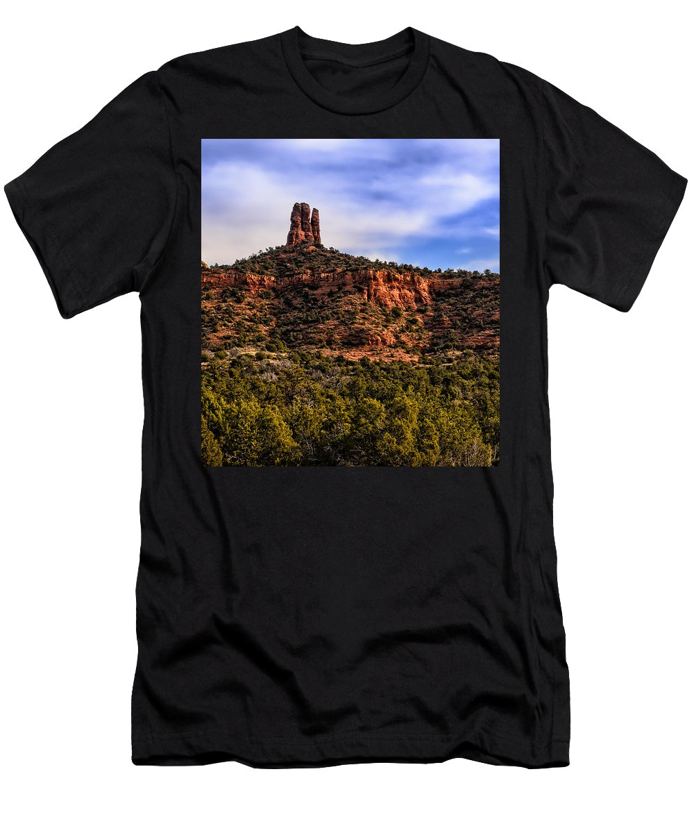 Arizona Men's T-Shirt (Athletic Fit) featuring the photograph Sedona Morning 21 by Mark Myhaver