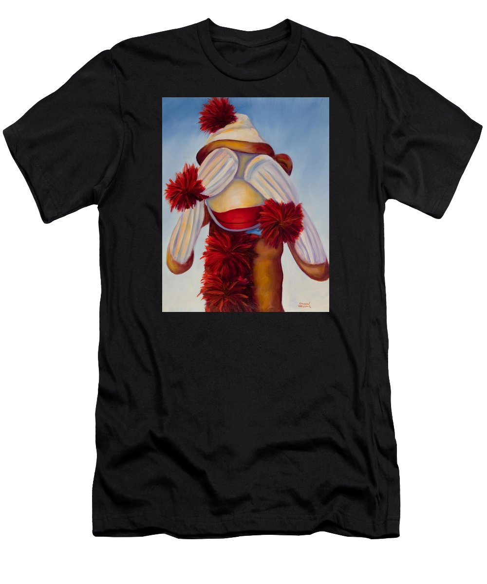 Children Men's T-Shirt (Athletic Fit) featuring the painting See No Bad Stuff by Shannon Grissom