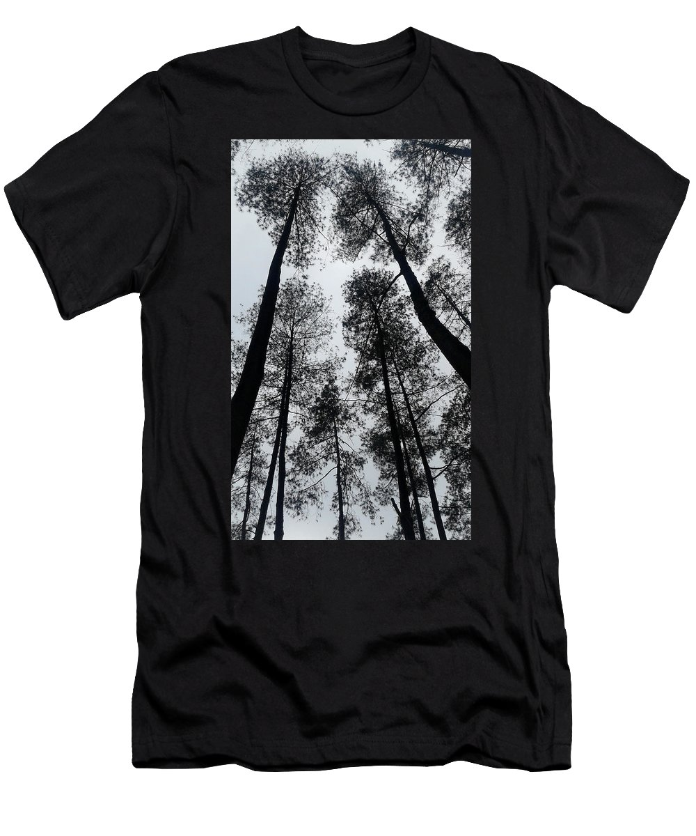 Black Night Men's T-Shirt (Athletic Fit) featuring the drawing See The Darkness by Yudhit Hadi