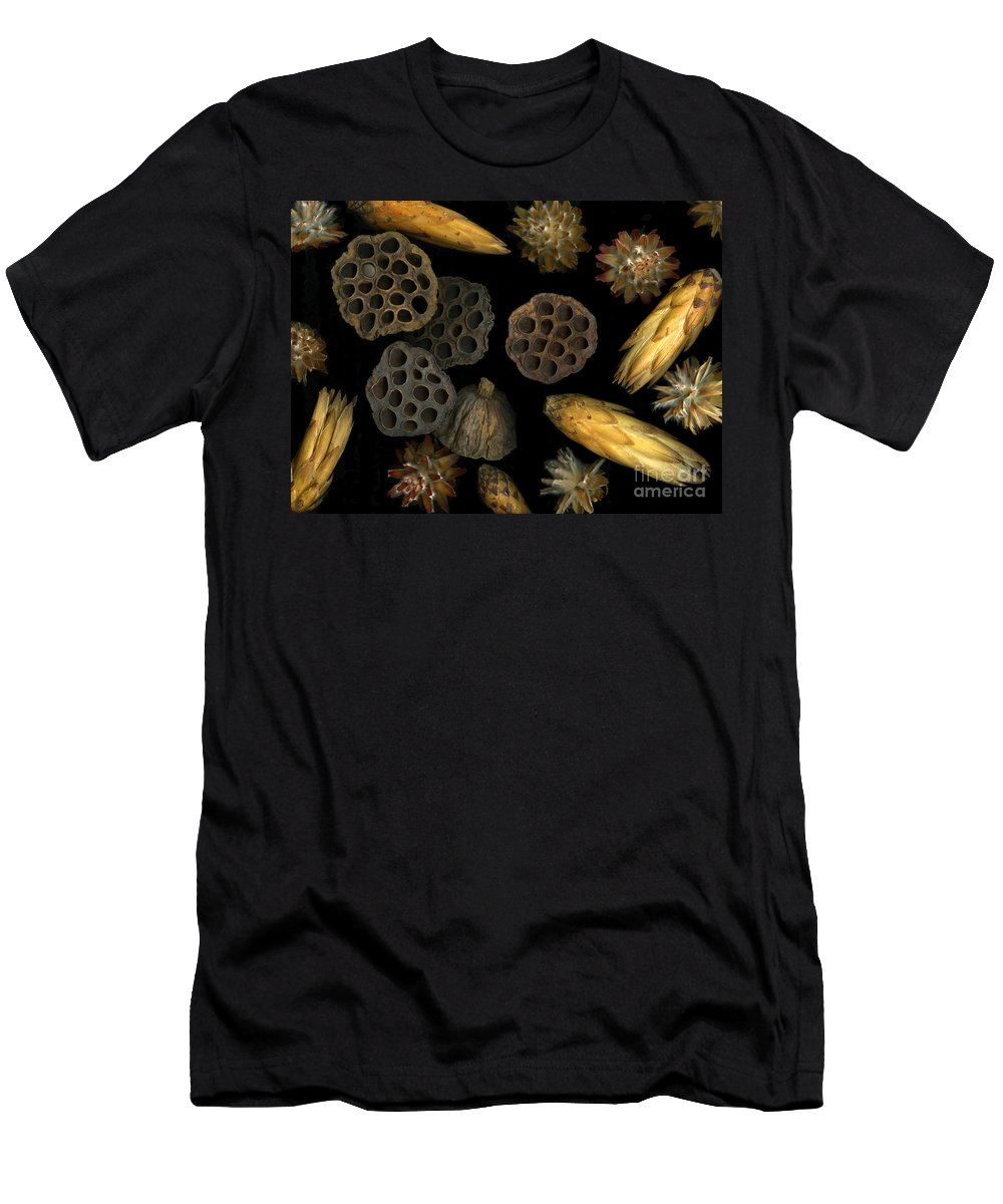 Pods Men's T-Shirt (Athletic Fit) featuring the photograph Seeds And Pods by Christian Slanec