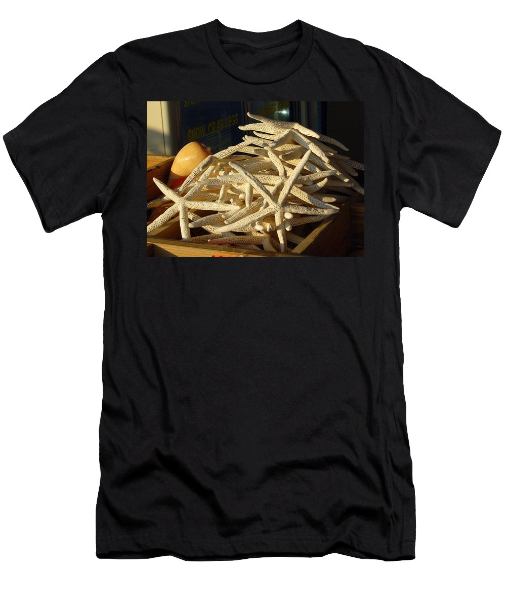 Sea Life Men's T-Shirt (Athletic Fit) featuring the photograph Seeing Stars by Shannon Jones