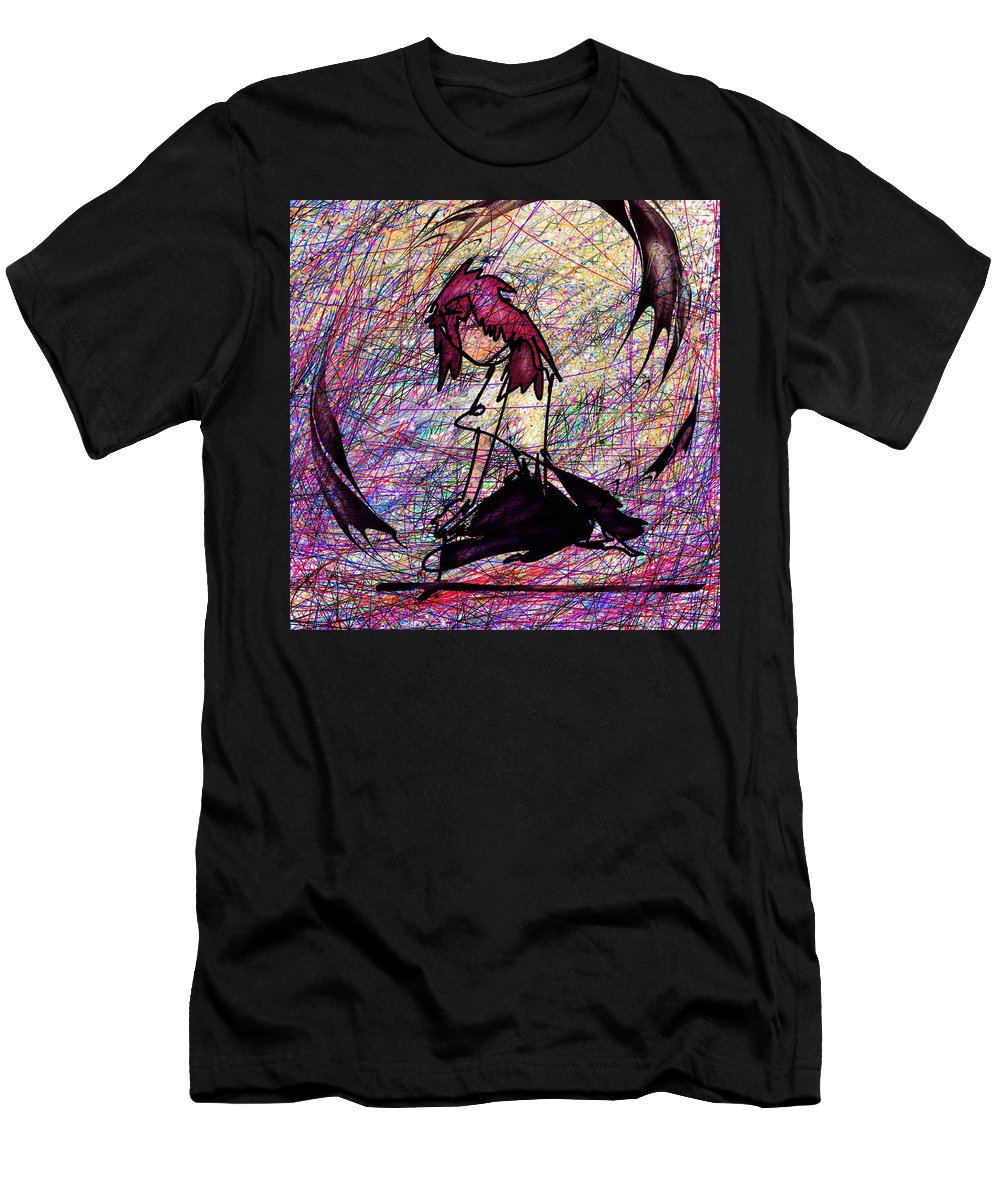 Abstract Men's T-Shirt (Athletic Fit) featuring the digital art Seiza by Rachel Christine Nowicki