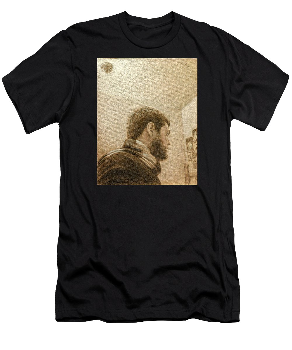 Men's T-Shirt (Athletic Fit) featuring the painting Self by Joe Velez