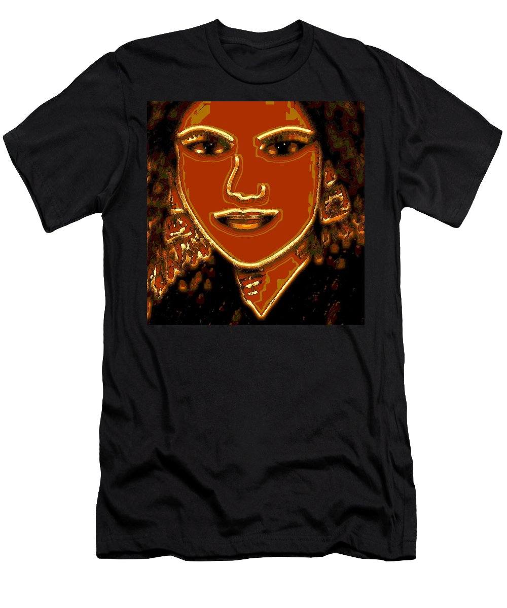 Woman Men's T-Shirt (Athletic Fit) featuring the mixed media Self-portrait-3 by Natalie Holland