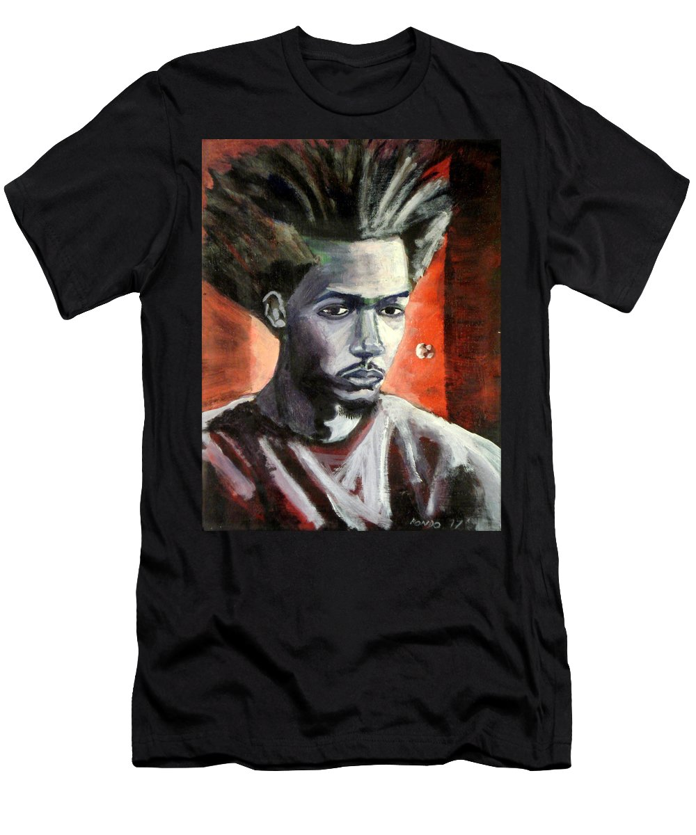 Portrait Men's T-Shirt (Athletic Fit) featuring the painting Self Portrait by Che Hondo