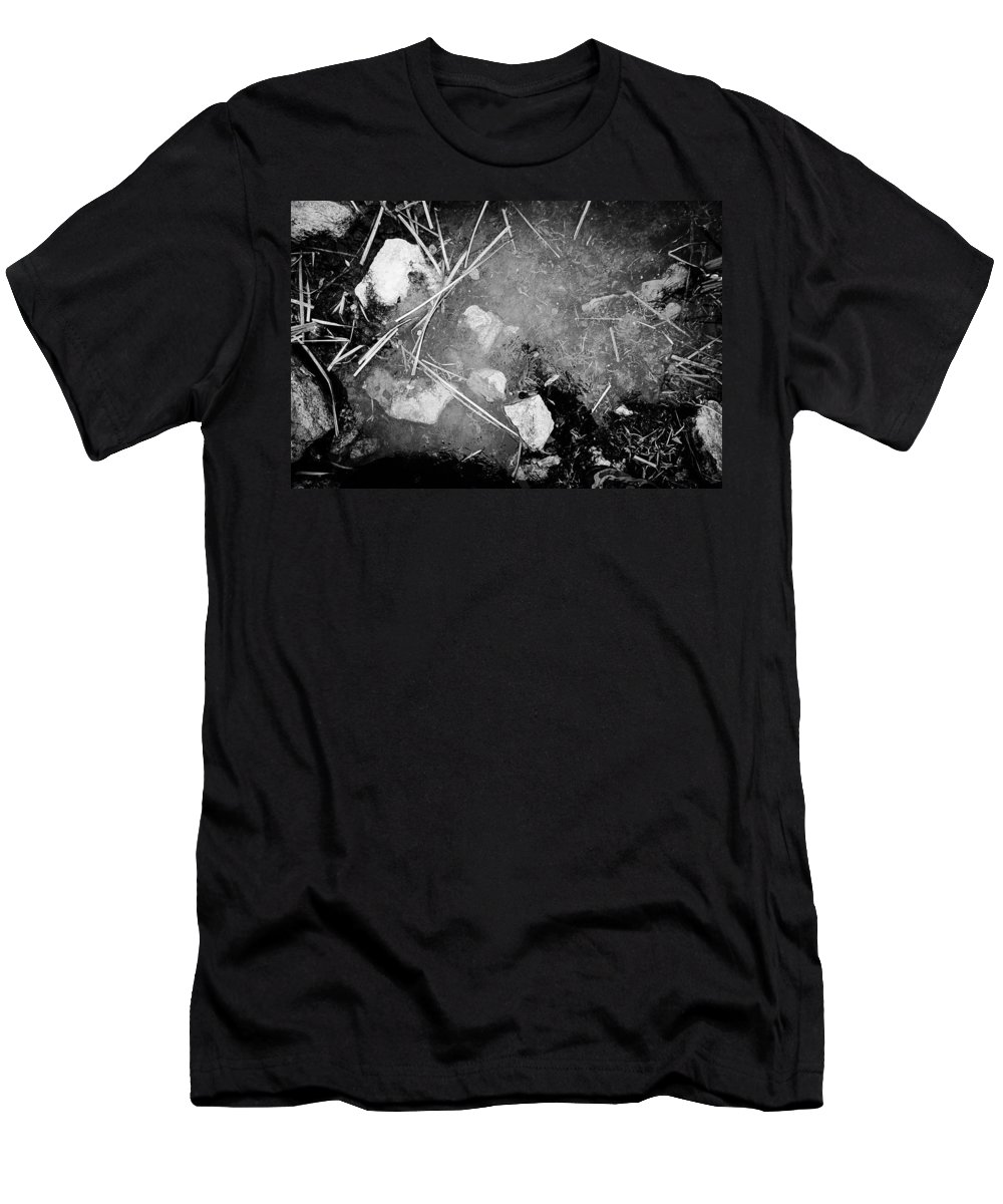 Black And White Landscape Photograph Men's T-Shirt (Athletic Fit) featuring the photograph Self Portrait Of Sorts by Desmond Raymond