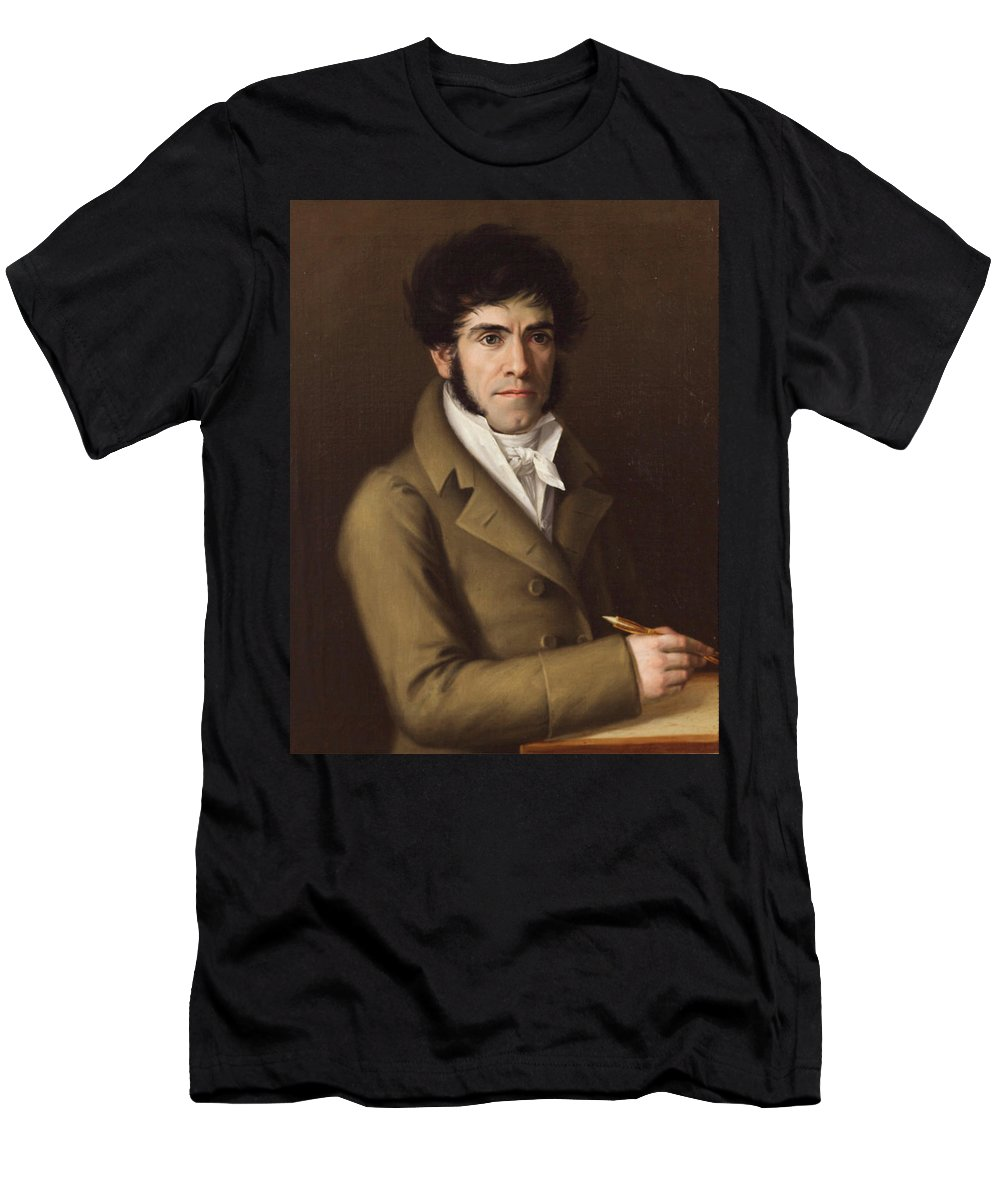 Rafael Tejeo Men's T-Shirt (Athletic Fit) featuring the painting Self Portrait by Rafael Tejeo
