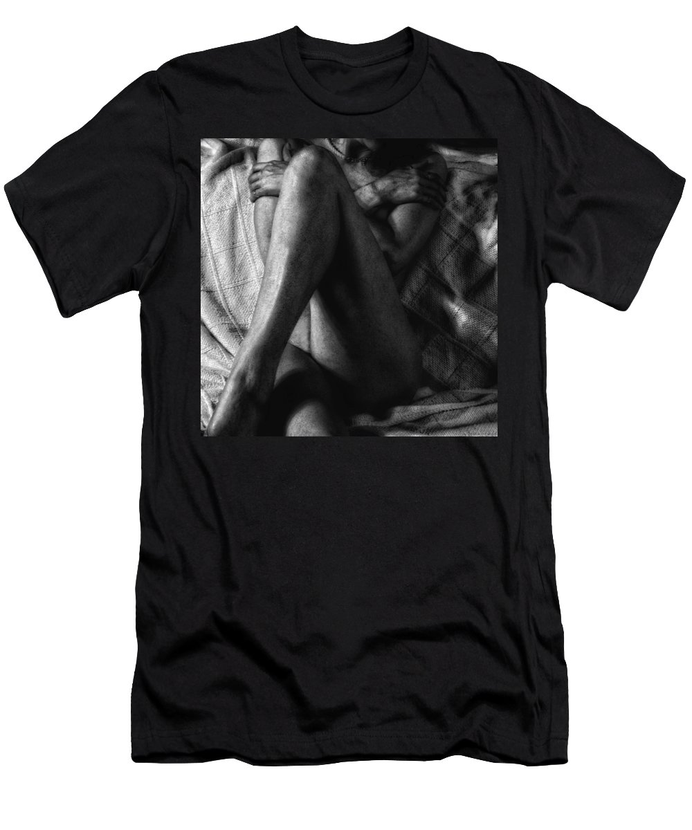 Woman Men's T-Shirt (Athletic Fit) featuring the photograph Self Preservation by Donna Blackhall