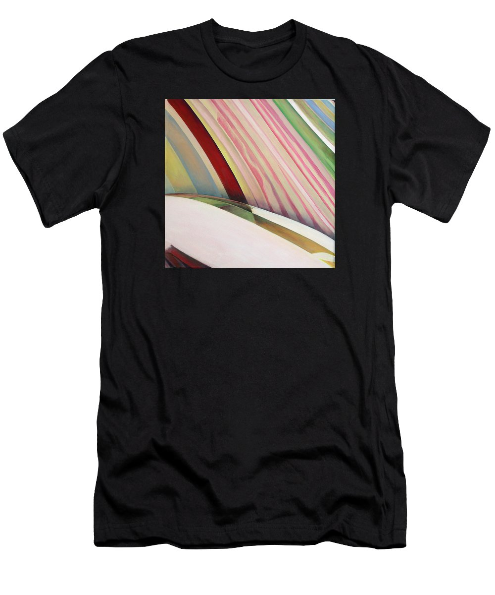 Abstract T-Shirt featuring the painting Sens 1 by Muriel Dolemieux