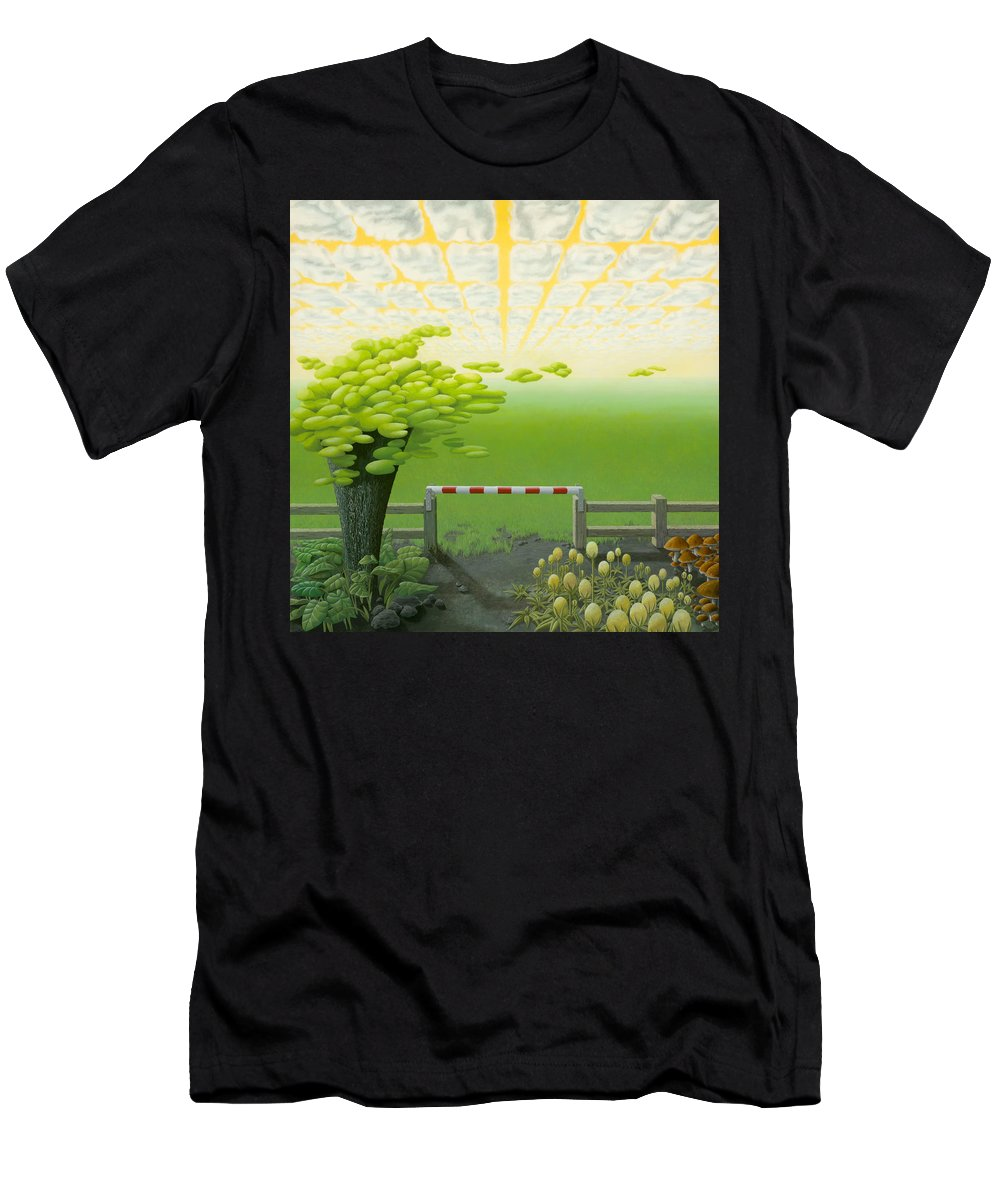 Tree Men's T-Shirt (Athletic Fit) featuring the painting September by Patricia Van Lubeck