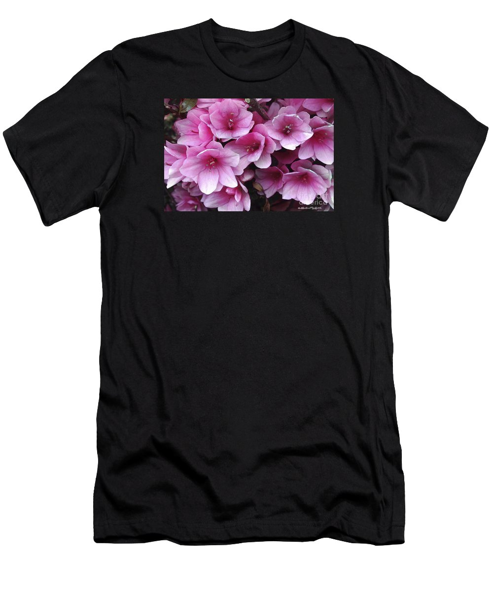 Flowers Men's T-Shirt (Athletic Fit) featuring the mixed media Serene Beauty by Christine Mayfield