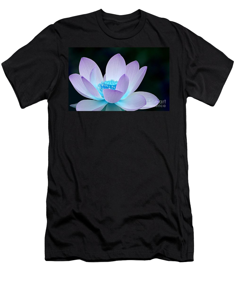 Flower Men's T-Shirt (Athletic Fit) featuring the photograph Serene by Jacky Gerritsen