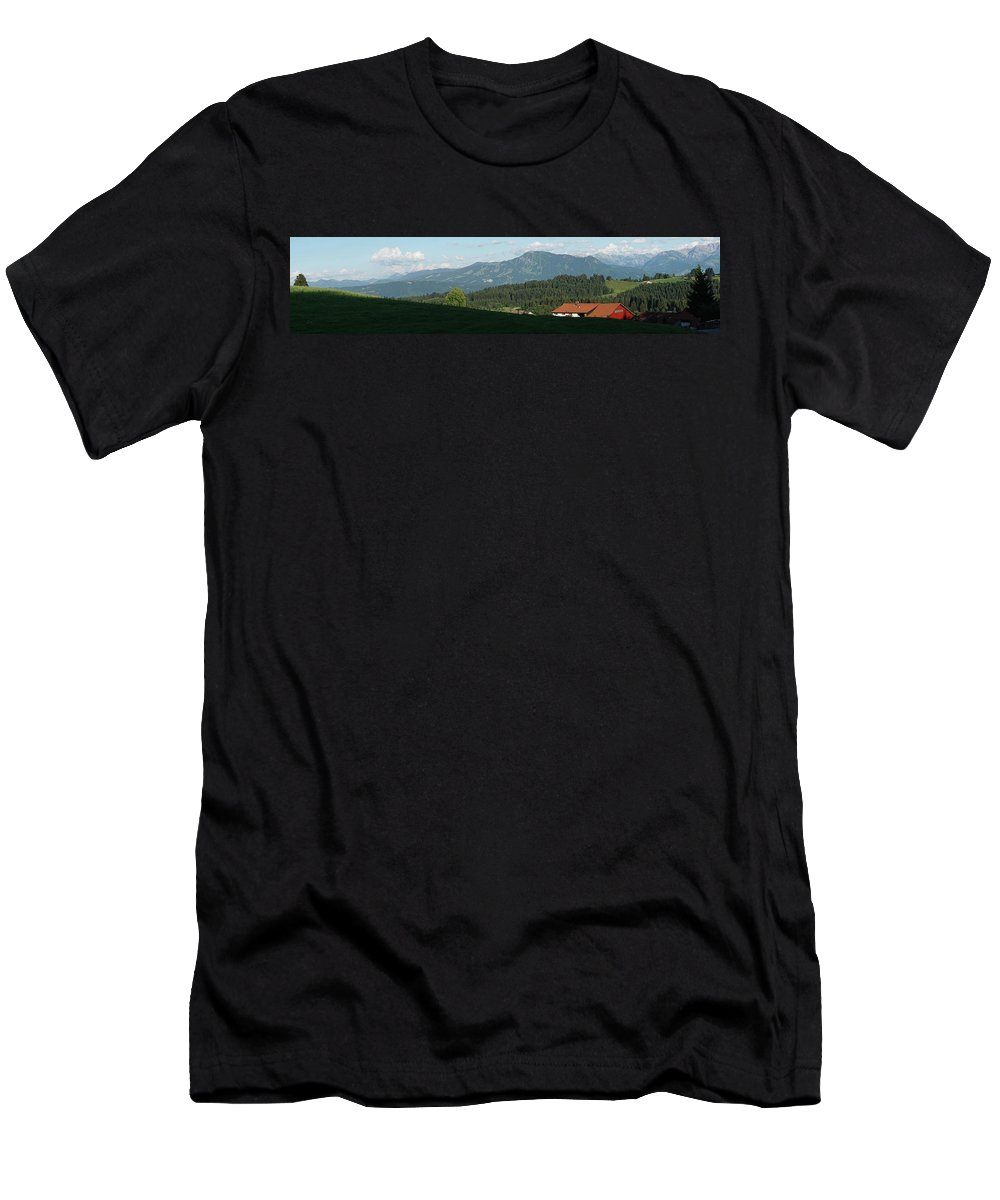 Red Men's T-Shirt (Athletic Fit) featuring the photograph Beautiful Germany II by Faith Shearer