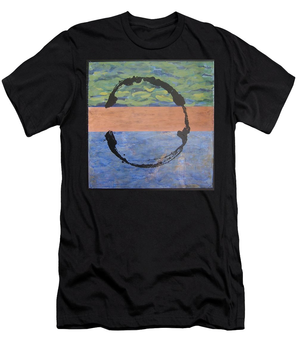 Serenity Men's T-Shirt (Athletic Fit) featuring the painting Serenity by Ellen Beauregard