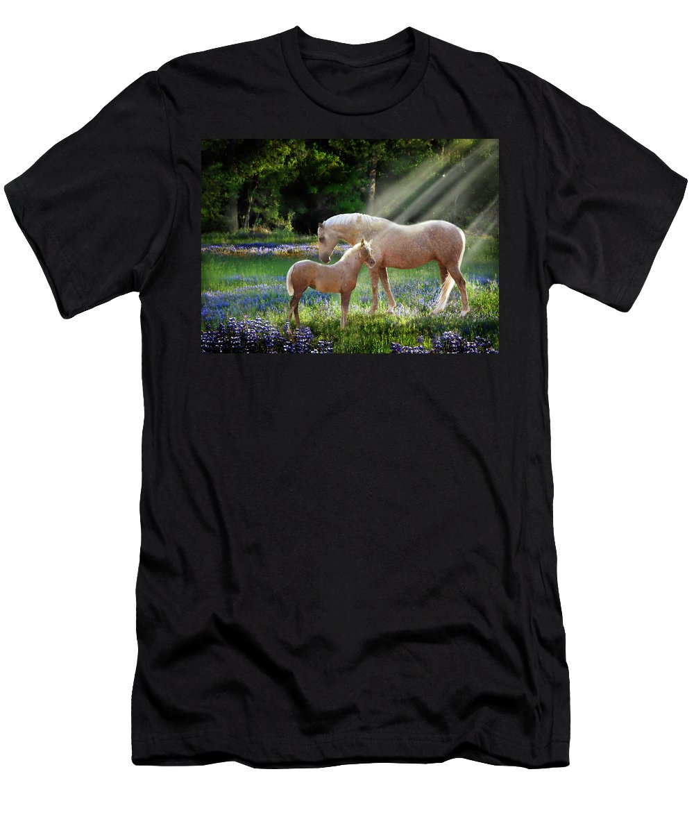 Horse Photography Men's T-Shirt (Athletic Fit) featuring the photograph Serenity by Melinda Hughes-Berland