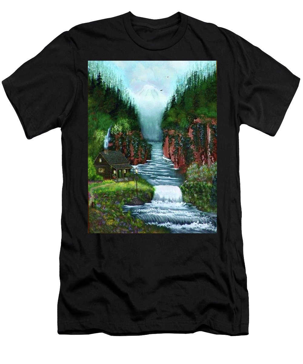 Photography Men's T-Shirt (Athletic Fit) featuring the photograph Serenity Valley by Laurie Kidd