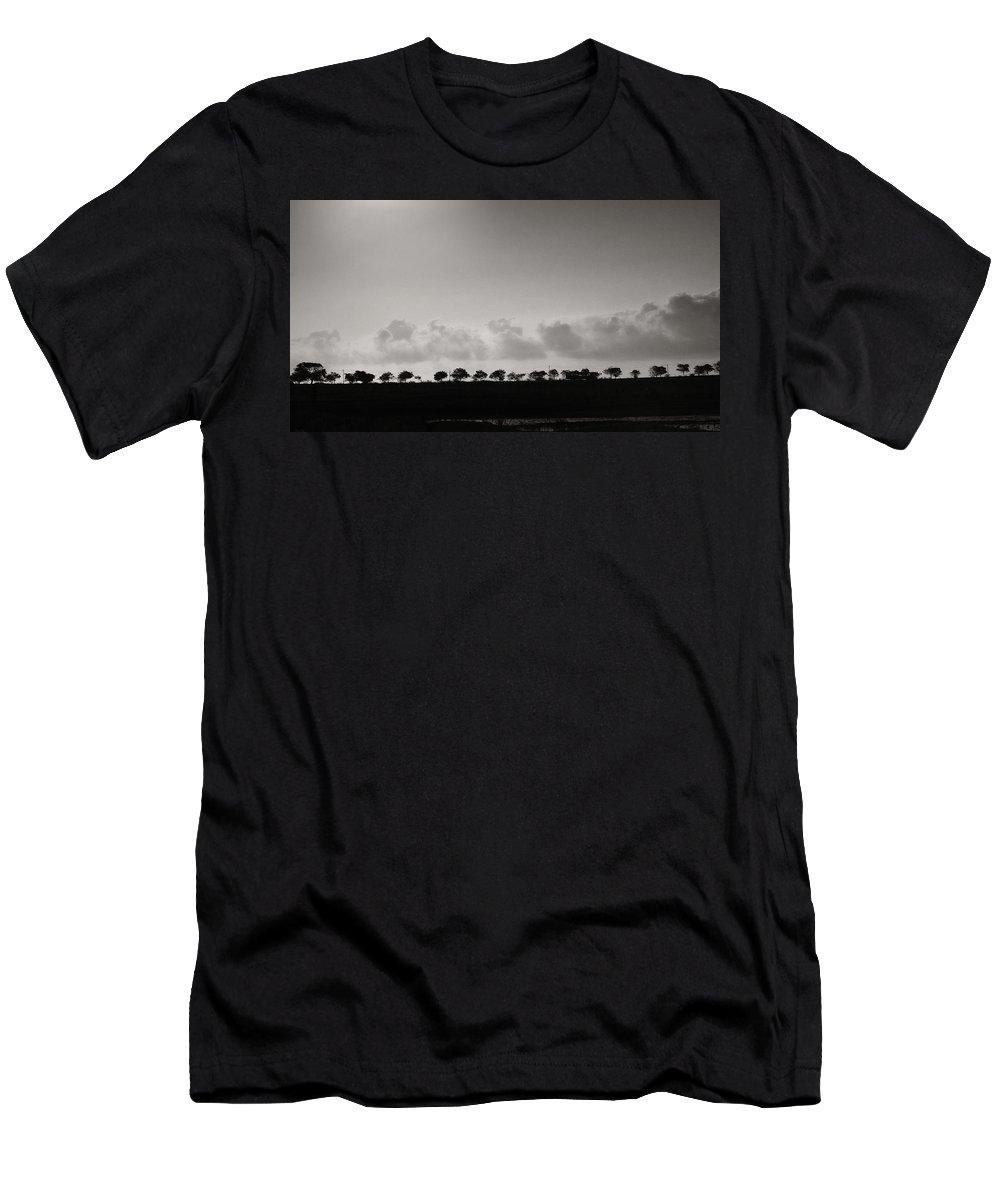 Krishnan Srinivasan Men's T-Shirt (Athletic Fit) featuring the photograph Serial Trees by Krishnan Srinivasan