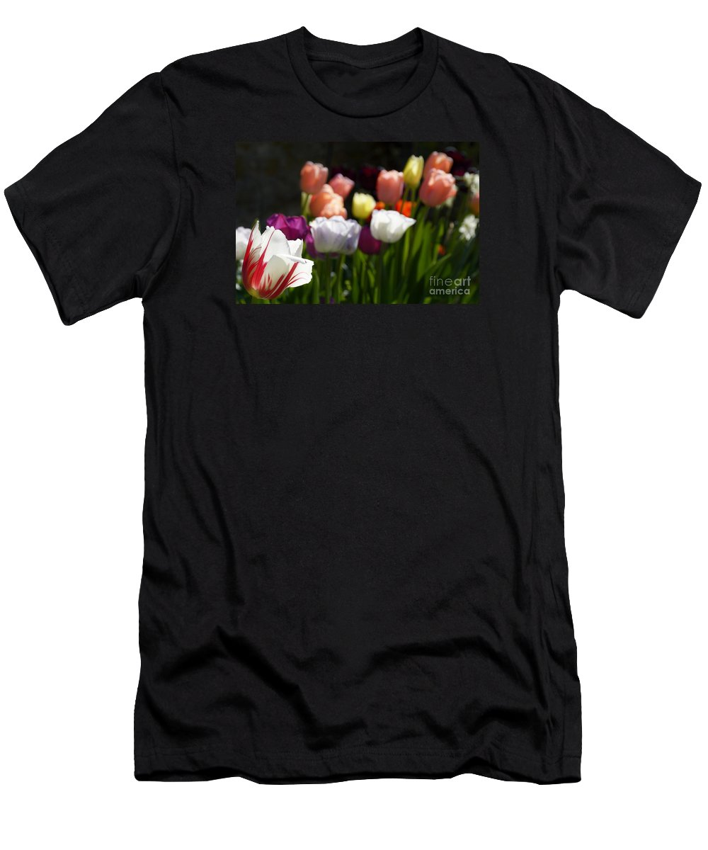 Wendy Men's T-Shirt (Athletic Fit) featuring the photograph Seriously Colourful by Wendy Wilton