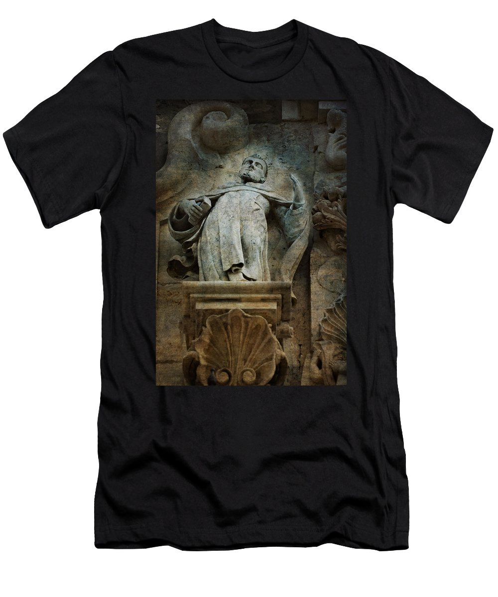 Religious Men's T-Shirt (Athletic Fit) featuring the photograph Sermon In Stone by Renee Hong