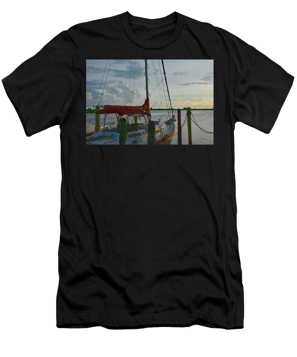 Sail Boat Men's T-Shirt (Athletic Fit) featuring the photograph Set Sail by Alison Belsan