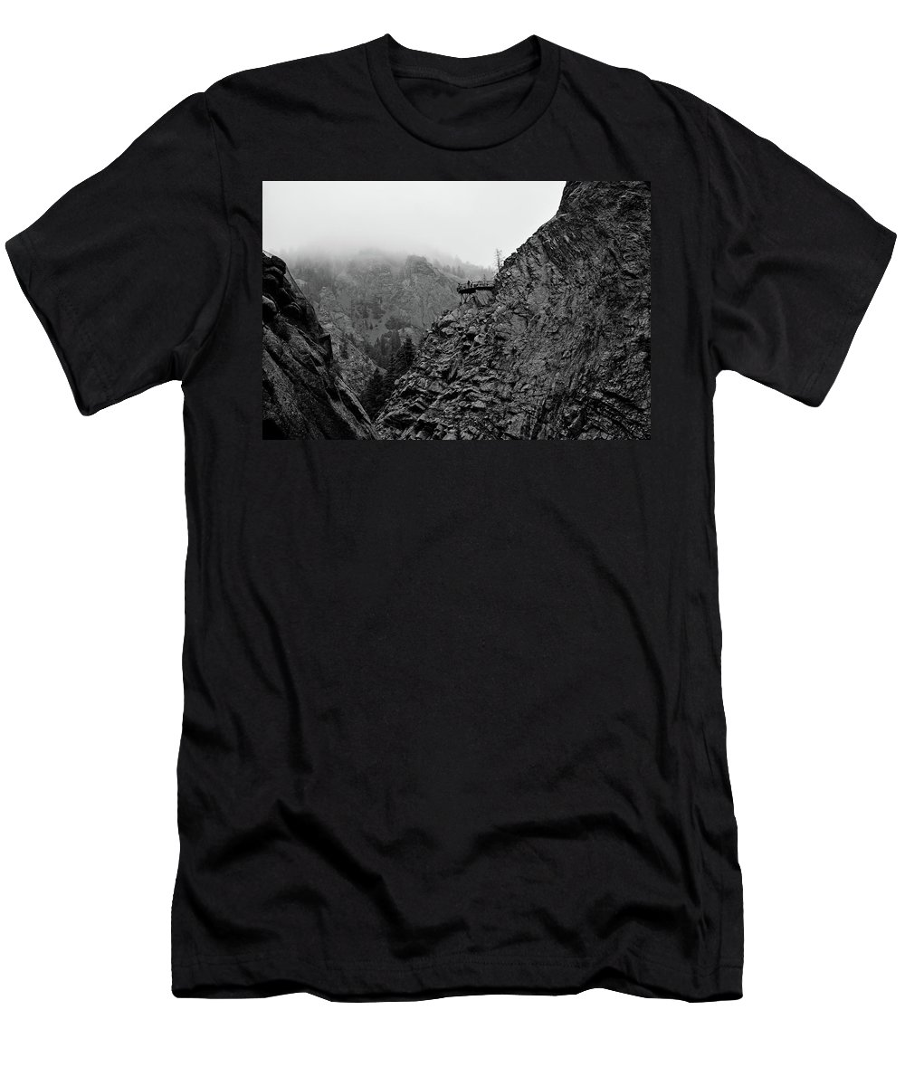 Seven Falls Men's T-Shirt (Athletic Fit) featuring the photograph Seven Falls Pastoral Study 3 by Robert Meyers-Lussier