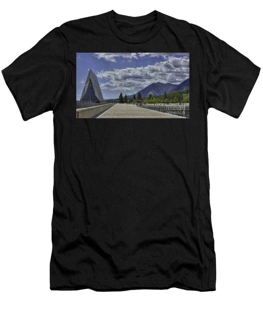 United States Air Force Academy Men's T-Shirt (Athletic Fit) featuring the photograph Seventeen Spires by David Bearden
