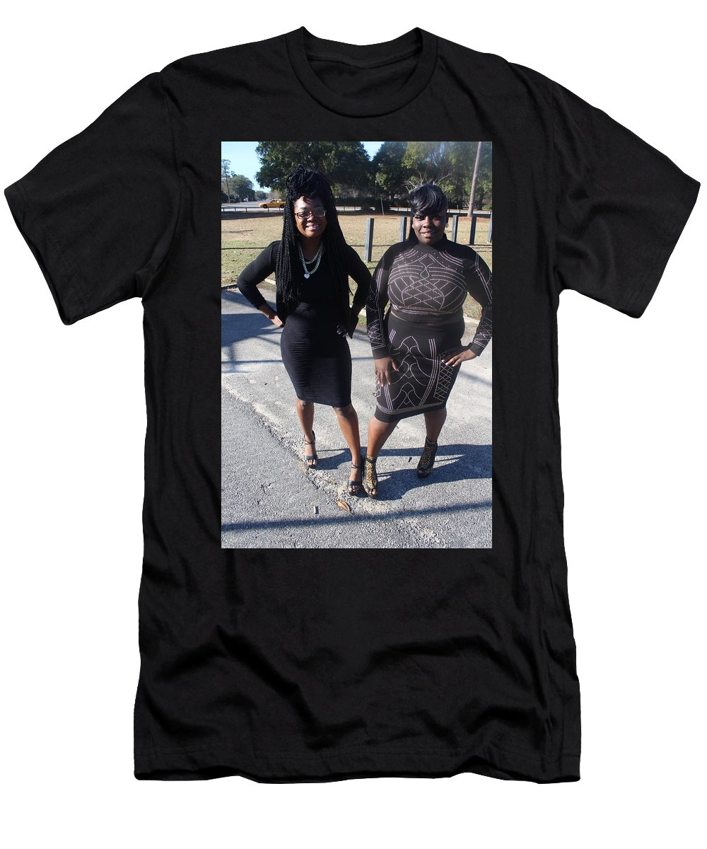 Black Dress Men's T-Shirt (Athletic Fit) featuring the photograph Sexy Friends 6 by Christopher White