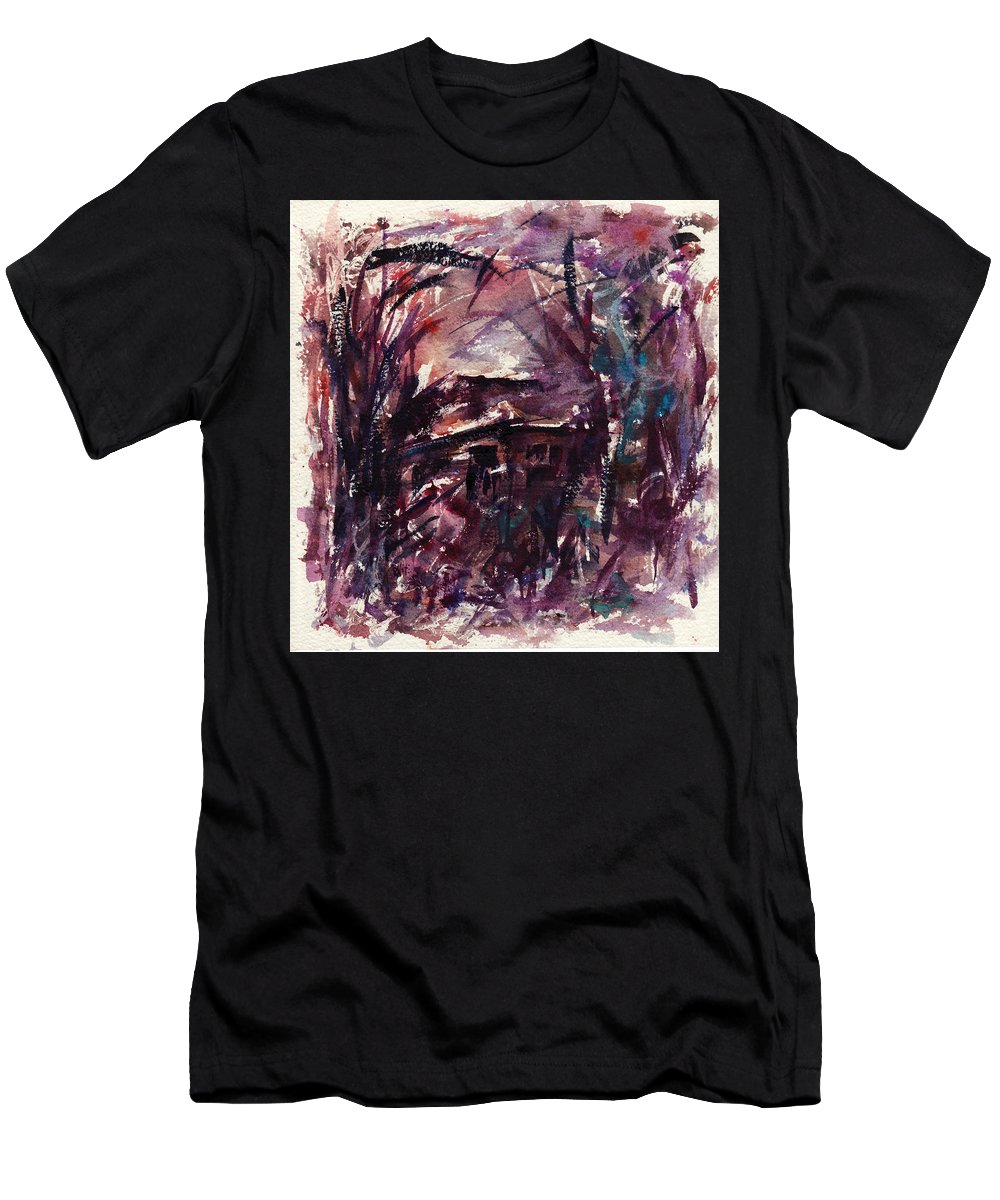 Shack Men's T-Shirt (Athletic Fit) featuring the painting Shack Second Movement by Rachel Christine Nowicki