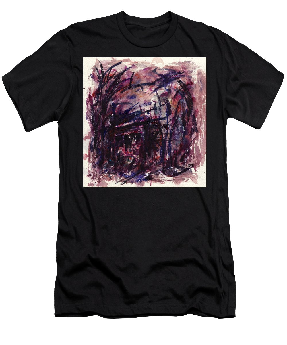 Shack Men's T-Shirt (Athletic Fit) featuring the painting Shack Third Movement by Rachel Christine Nowicki