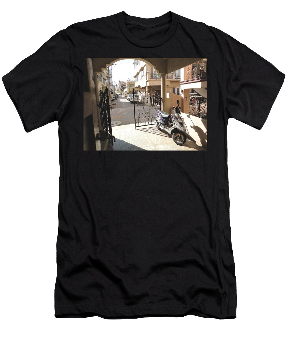 Shade Men's T-Shirt (Athletic Fit) featuring the photograph Shade And Shadows by Usha Shantharam