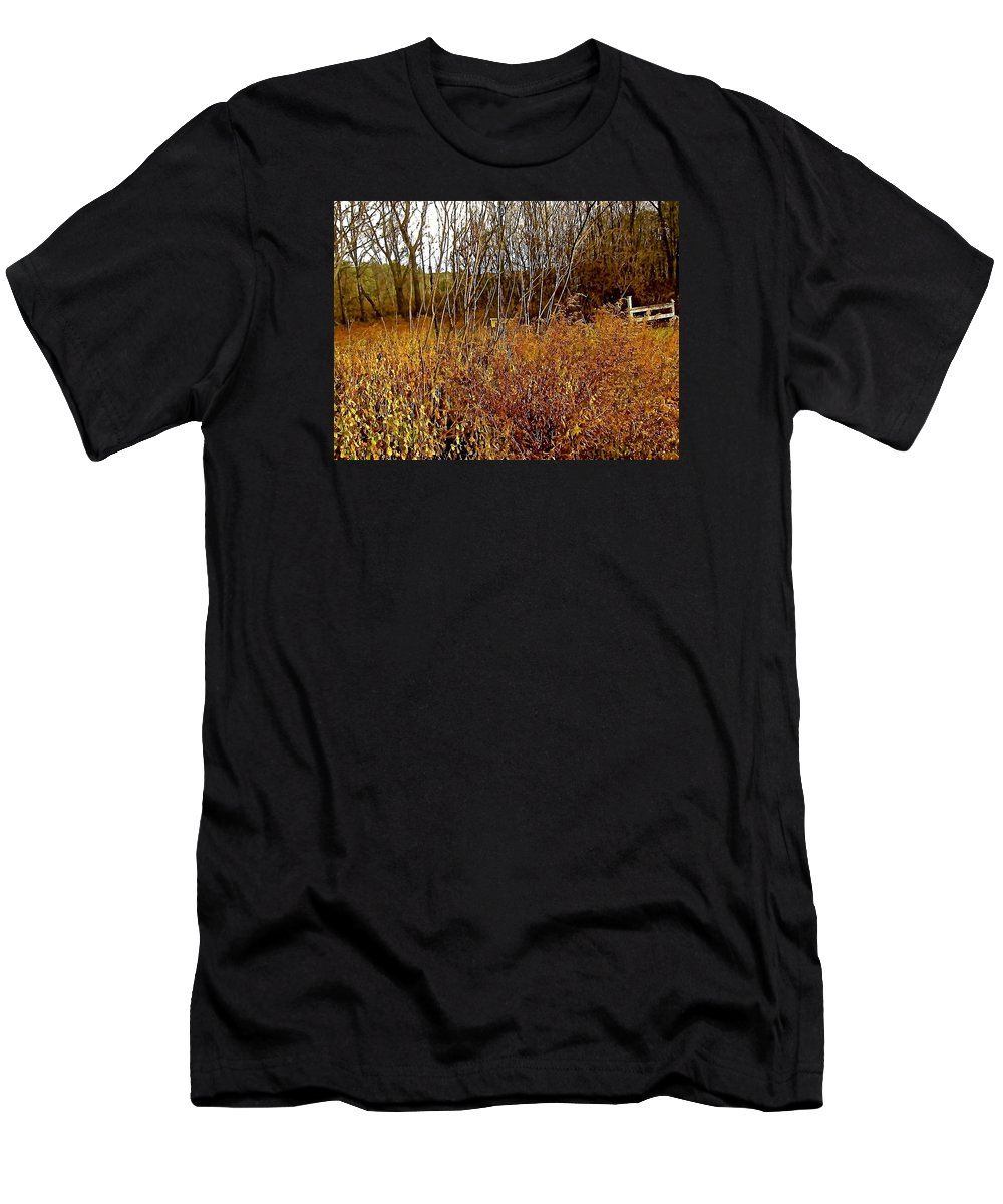 Autumn Men's T-Shirt (Athletic Fit) featuring the photograph Shades Of Amber by Elizabeth Tillar