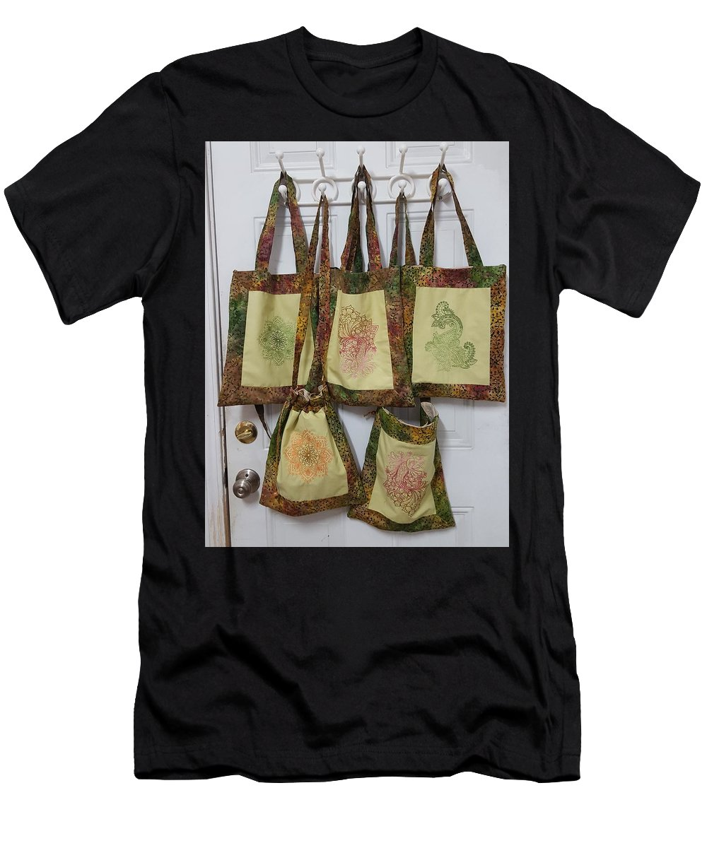 Purse Men's T-Shirt (Athletic Fit) featuring the tapestry - textile Shadi Handbags by Carole Ray
